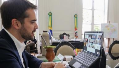 GOVERNADOR EDUARDO LEITE TESTA POSITIVO